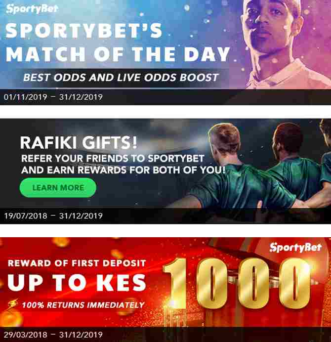 Sportybet Promotions and referral bonus for any new members