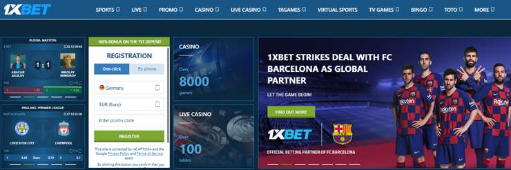 Win with your favorite team on the site 1xbet